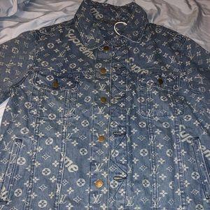 Special edition Louis Vuitton/ supreme jean jacket